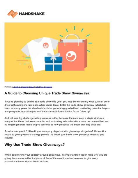Unique Giveaways For Trade Shows - trade show giveaways unique ideas for exhibitors