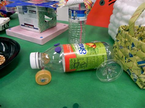 things made out of recycled materials plastic bottle car even axle made out recycled materials