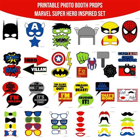 printable heroes starter set instant download marvel super hero inspired printable