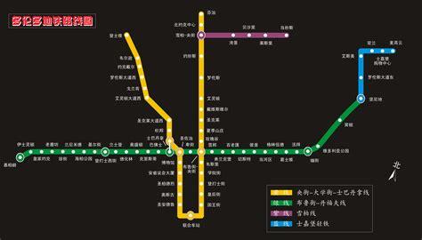 toronto subway map toronto ttc subway map