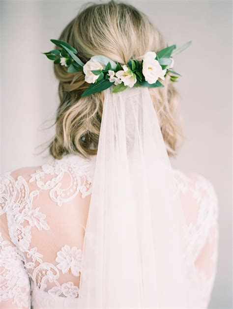 wedding flower veil hair ester floral comb created with eucalyptus and olive leaves flower crowns bridal flowers