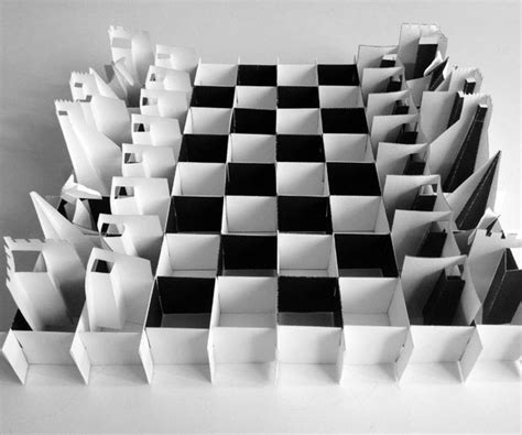 How To Make A Paper Chess Set - pop up paper chess set on behance