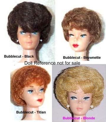 celebrities with bubblecut hair in the 1960s barbie vintage dolls identified 1959 1962