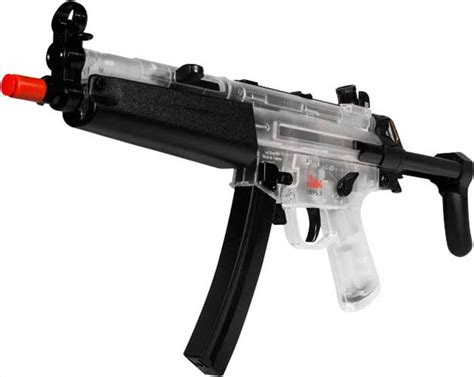 Jual Airsoft Gun Mp5 Navy Heckler Koch H K Mp5 Navy Dual Power Rifle Silver Clear