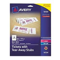 Avery Raffle Ticket Template by Avery Tickets With Tear Away Stubs 1 75