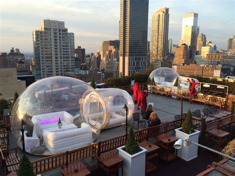 roof top bars new york rooftop igloos at 230 fifth batterypark tv we inform