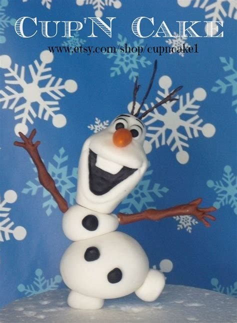 frozen olaf the snowman with sunglasses fondant cake topper cake toppers fondant cake toppers