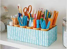 15 Interesting and Useful DIY Desk Organizers Empty Toilet Paper Roll Png