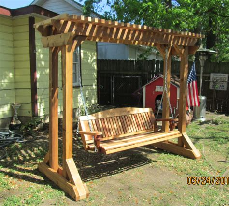 diy backyard swing outdoor swing frames hand made cedar porch swings