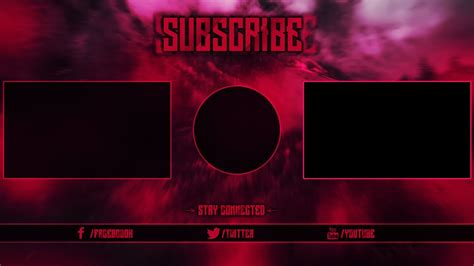 free outro template free outro template 1 change color photoshop cc cs6