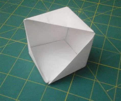 How To Make A Paper That Opens - origami open faced cube 4 steps with pictures