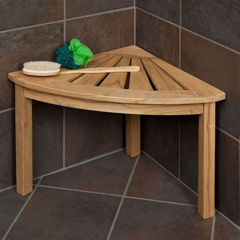 Teak Corner Shower Stool by Teak Corner Shower Seat Bathroom