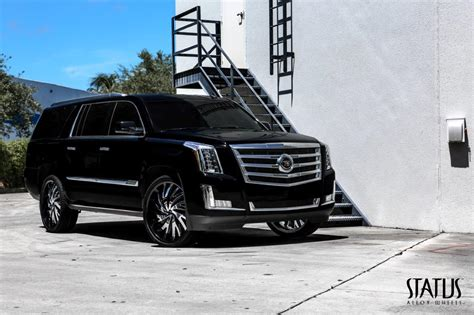 cadillac escalade black rims s836 hurricane status wheels