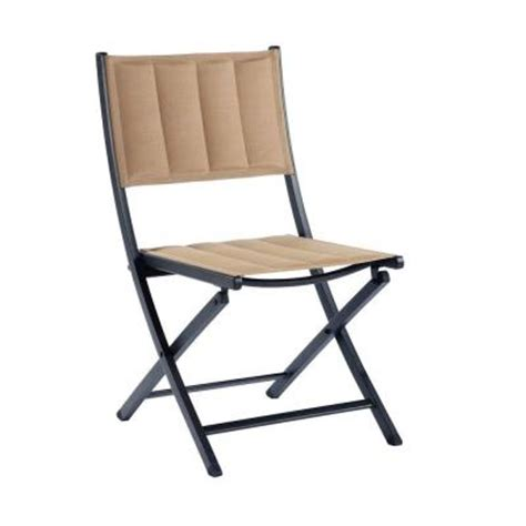 Martha Stewart Dining Chairs Martha Stewart Living Franklin Park Brown Padded Folding Patio Dining Chair 2 Pack Fds10002a