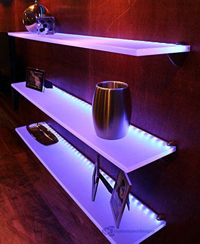 floating shelves with led lights wine racks led lighted floating shelf with lights 4 long