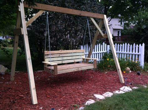 diy outdoor swing build diy how to build a frame porch swing stand pdf plans