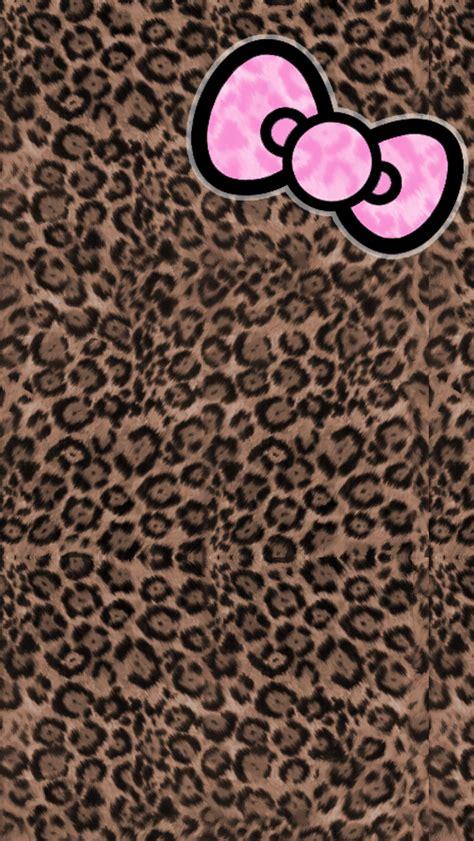 Themes Line Hello Kitty Leopard | hello kitty leopard sticker icon themes brownhk