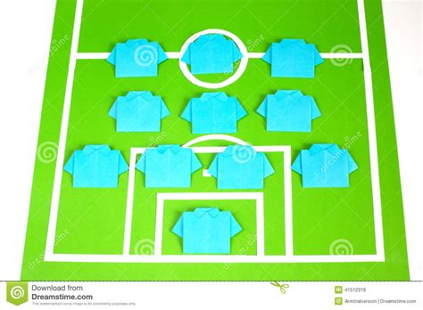 origami football formation tactics stock photo image