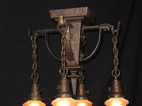 arts and crafts lighting hammered arts crafts lighting fixture antique lighting