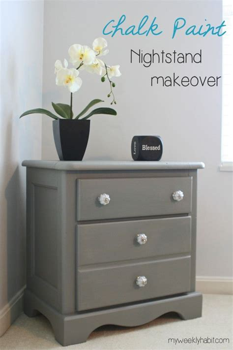 chalkboard paint nightstand chalk paint nightstand makeover new pulls and chalk