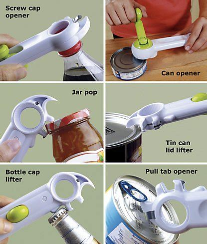Creative Bottle Soda Can Opener Pembuka Botol Kaleng 6 in 1 multifunction opener kitchen tools the ultimate rotary can opener