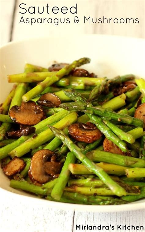 Springtime Side Sauteed Asparagus sauteed asparagus and mushrooms recipe i