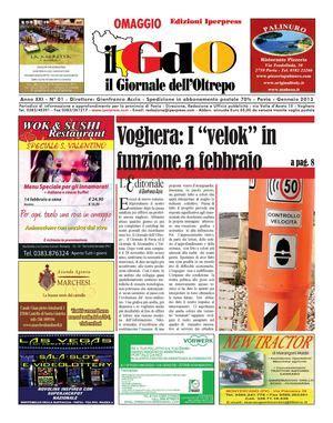 giornali di pavia calam 233 o il giornale dell oltrepo n 176 01 gennaio 2013