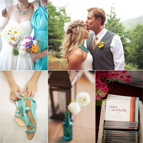 turquoise wedding ideas rustic wedding chic