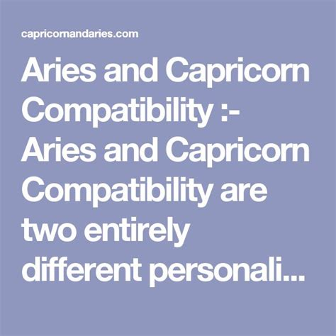 aries instinc blog s 1000 ideas about capricorn compatibility on pinterest