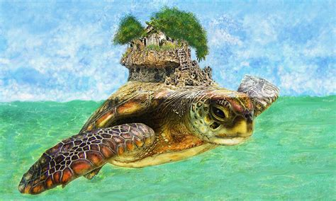 Tropical House Plans by Sea Turtle Island Digital Art By Jane Schnetlage