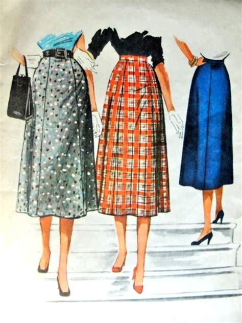 skirt pattern waist ease 1950s flared skirt pattern easy to sew mccalls 3770 waist