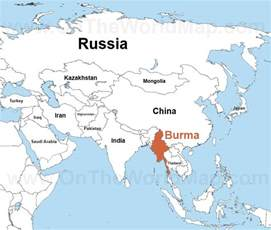 Burma World Map burma maps maps of burma myanmar ontheworldmap com