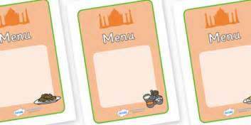 menu writing template indian restaurant play menu writing templates indian