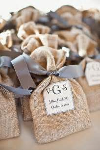 Rustic burlap and lace wedding favor bags for gifts and sweeties