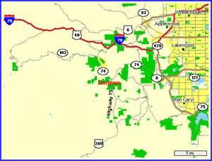evergreen colorado map maps of evergreen colorado