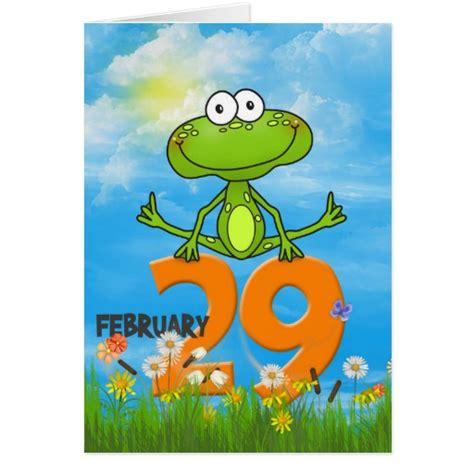 leap year birthday card template leap year birthday frog card zazzle