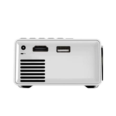 Portable Led Projector 50 Ansi Lumens Interfac Remote Black wholesale led portable mini projector pocket miracast