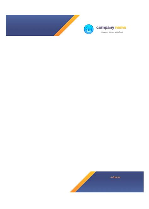 word letterhead template with logo 46 free letterhead templates exles free template