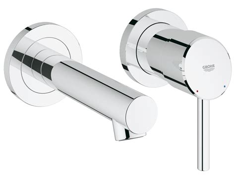 rubinetti on line grohe concetto miscelatore lavabo a muro 19575001