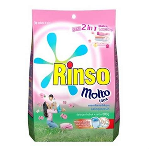Rinso Molto Detergen Bubuk 800gr by Rinso Molto Ultra Detergent 800gr