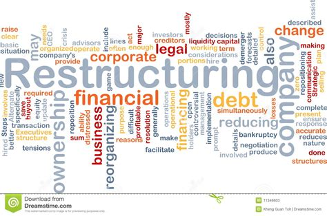 restructuring word cloud stock photos image 11346603