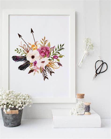 printable wall art decor printable art watercolor floral print for inspired shabby