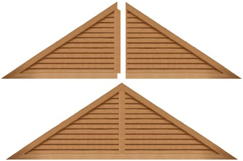 Triangular Gable Louver Vents And Grilles For The Hvac Industry