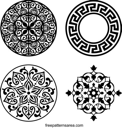 Floral Ornament Free Vector Desing Freepatternsarea Ornament Template