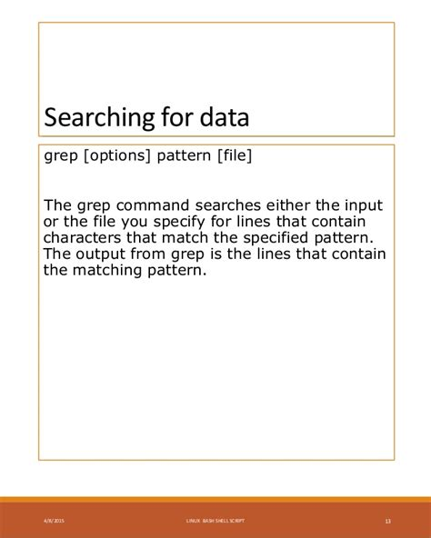 pattern matching with grep linux shell scripting