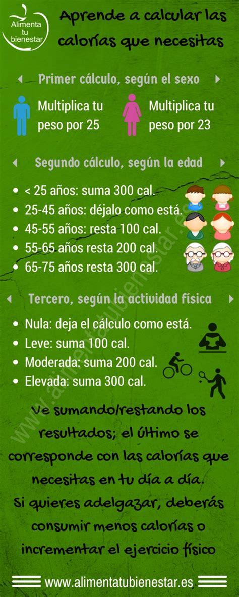 calculo calorias alimentos calcula las calor 237 as que necesitas
