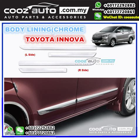 Door Sill Plate All New Innova 2016 With L toyota innova 2016 2017 chrome side doors cladding molding