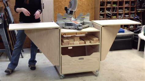 build miter saw bench diy miter saw stand youtube