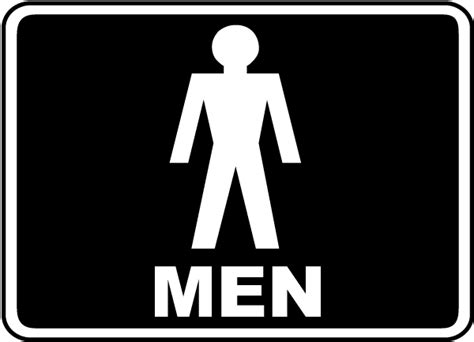 bathroom men sign men restroom sign by safetysign com f4901