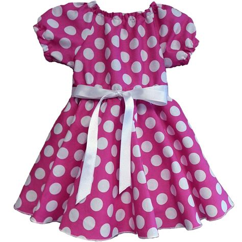 Baby Dress Polkadot pink and white polka dot dress lucky skunks baby toddler clothes